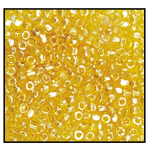3 Cut Beads 3x 2300 12 0 86010 Yellow Transparent Luster