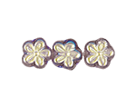 5 Petal Flower Beads with Side Holes