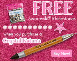 Free Rhinestones when you purchase a Crystal Katana