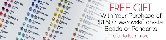 Buy Swarovski Beads and Pendants and receive a complimentary Swarovski Bead Color Board
