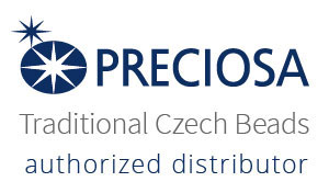 Preciosa's Logo that reads Preciosa Traditional Czech Beads Authorized Distributor