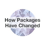 Learn how Swarovski crystal packages have changed.