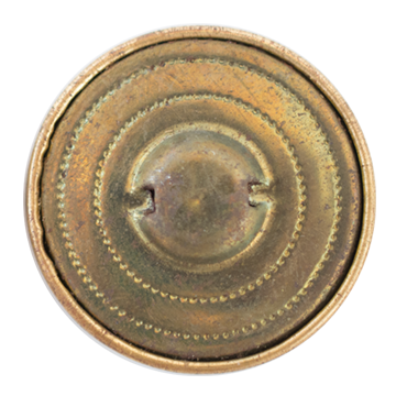 Fancy Metal Filigree Button 1966 32mm Antique Gold 11