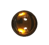 Glass Jewel #5046 Round Cabochon 7mm Smoked Topaz (432 Pieces)
