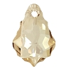 Swarovski 6090 Baroque Pendant 16x11mm Crystal Golden Shadow (12 Pieces)