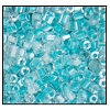 2 Cut Bead (2x) #2200 9/0 38658 Crystal/Teal Lined (1/2 Kilo) - CLEARANCE