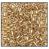 2 Cut Bead (2x) #2200 10/0 68106 Crystal/Gold Lined (1/2 Kilo) - CLEARANCE