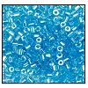 2 Cut Bead (2x) #2200 11/0 66000 Aqua Transparent Luster (1/2 Kilo)