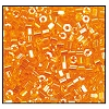 2 Cut Bead (2x) #2200 11/0 86060 Light Orange Transparent Luster (1/2 Kilo)