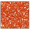 2 Cut Bead (2x) #2200 11/0 96030 Dark Orange Transparent Luster (1/2 Kilo)