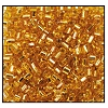 2 Cut Bead (2x) #2200 9/0 17050 Gold Transparent Silver Lined (1/2 Kilo) - CLEARANCE