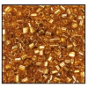 2 Cut Bead (2x) #2200 11/0 17070 Deep Gold Transparent Silver Lined (1/2 Kilo)