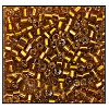 2 Cut Bead (2x) #2200 9/0 17090 Dark Gold Transparent Silver Lined (1/2 Kilo) - CLEARANCE