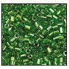 2 Cut Bead (2x) #2200 11/0 57430 Peridot Transparent Silver Lined (1/2 Kilo)