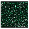 2 Cut Bead (2x) #2200 9/0 57620 Dark Emerald Transparent Silver Lined (1/2 Kilo) - CLEARANCE