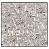 2 Cut Bead (2x) #2200 9/0 78102 Crystal Transparent Silver Lined (1/2 Kilo)
