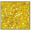 2 Cut Bead (2x) #2200 11/0 87010 Citrine Transparent Silver Lined (1/2 Kilo)