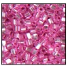 2 Cut Bead (2x) #2200 11/0 18275 Pink Transparent Silver Lined (1/2 Kilo) - CLEARANCE