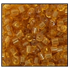 2 Cut Bead (2x) #2200 9/0 10070 Medium Topaz Transparent (1/2 Kilo) (LOOSE) - CLEARANCE