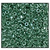 3 Cut Bead (3x) #2300 12/0 38659 Crystal/Olive Lined (1 Bunch)