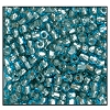 3 Cut Bead (3x) #2300 9/0 61017 Aqua/Yellow Lined (1 Bunch)