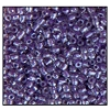 3 Cut Bead (3X) #2300 12/0 38828 Crystal/Purple Lined Luster (1 Bunch) - CLEARANCE