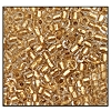 3 Cut Bead (3X) #2300 9/0 68106 Crystal/Gold Lined (1 Bunch) - CLEARANCE