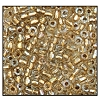 3 Cut Bead (3X) #2300 9/0 68506 Crystal/Gold Lined Iris (1 Bunch) - CLEARANCE