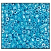 3 Cut Bead (3x) #2300 9/0 68020 Turquoise Opaque Luster (1 Bunch)