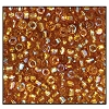 3 Cut Bead (3x) #2300 9/0 16070 Medium Topaz Transparent Luster (1 Bunch)