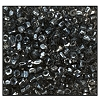 3 Cut Bead (3x) #2300 9/0 46010 Smoke Grey Transparent Luster (1 Bunch)