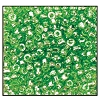 3 Cut Bead (3x) #2300 9/0 56100 Light Green Transparent Luster (1 Bunch)