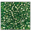 3 Cut Bead (3x) #2300 9/0 56430 Green Transparent Luster (1 Bunch)
