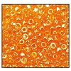 3 Cut Bead (3x) #2300 9/0 96000 Orange Transparent Luster (1 Bunch)