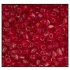3 Cut Bead (3x) #2300 9/0 90090 Dark Red Transparent (1 Bunch)