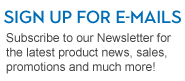 Image reads Our Newsletter Subscribe to our Newsletter for exclusive promotions, sales, & product information
