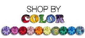 Swarovski Shop By Color Button that includes many colors of Swarovski crystals