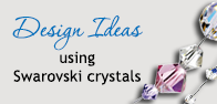 Image reads Design Ideas using Swarovski crystals