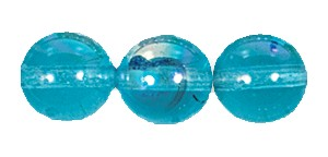 Druk Smooth Round Beads #4150 6MM Aqua AB (1,200 Pieces)