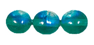 Druk Smooth Round Beads #4150 6MM Emerald AB (1,200 Pieces)