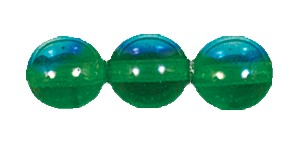 Druk Smooth Round Beads #4150 8MM Kelly Green AB (600 Pieces)