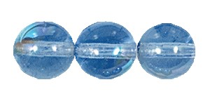 Druk Smooth Round Beads #4150 6MM Light Sapphire AB (1,200 Pieces)