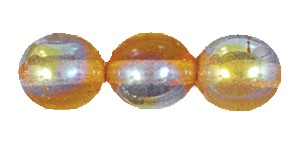 Druk Smooth Round Beads #4150 4MM Topaz AB (1,200 Pieces)