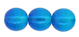 Druk Smooth Round Beads #4158 8mm Aqua/Capri Blue (600 Pieces) - CLEARANCE