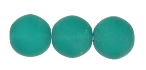 Druk Smooth Round Beads #4150 10mm Emerald Matt (300 Pieces) - CLEARANCE