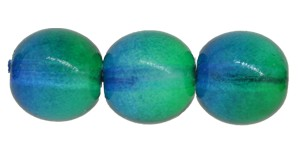Druk Smooth Round Beads #4158 6mm Emerald/Capri Blue (1,200 Pieces) - CLEARANCE
