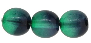 Druk Smooth Round Beads #4158 8mm Emerald/Montana (1,200 Pieces) - CLEARANCE