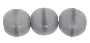 Druk Smooth Round Beads #4150 7mm Grey Silk (600 Pieces) - CLEARANCE