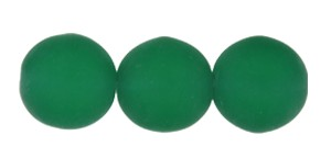 Druk Smooth Round Beads #4150 10mm Kelly Green Matt (300 Pieces) - CLEARANCE
