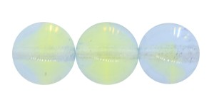 Druk Smooth Round Beads #4158 8mm Lime/Light Blue (600 Pieces) - CLEARANCE